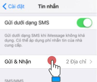 Cách sử dụng bật iMessage trên iPhone 3