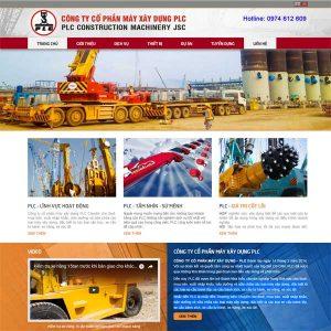 Mẫu Website Doanh Nghiệp Công Ty Cho Thuê Máy Cẩu WBT141
