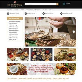 Mẫu Website Nhà Thuốc đông Y Gia Truyền WBT136