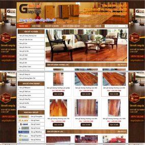 Mẫu Website Bán Sàn Gỗ Tự Nhiên Cao Cấp Giá Rẻ WBT140