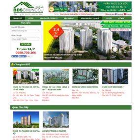 Mẫu Website Bán Và Giới Thiệu Bất động Sản Nhà đất Nhiều Dự án WBT139