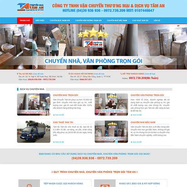 Mẫu Website Dịch Vụ Chuyển Nhà Trọn Gói WBT1001