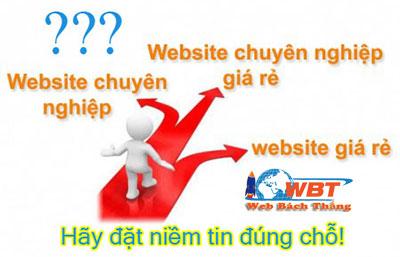 thiết kế website hãy đặt niềm tin đúng chỗ