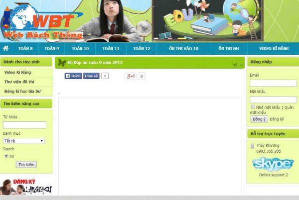 Mẫu giao diện thiết kế website diễn đàn
