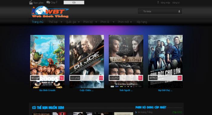 ưu điểm thiết kế website xem phim của Công ty WBT