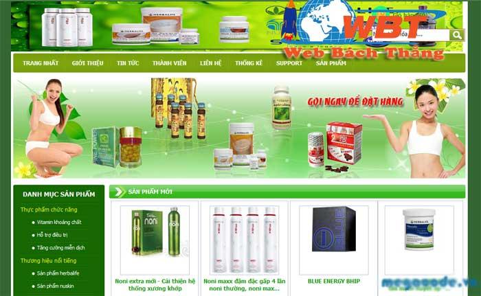 Thiết kế website bán thuốc