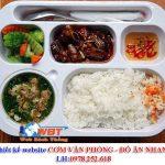 Thiết Kế Website Cơm Văn Phòng đồ ăn Nhanh Online