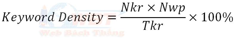 công thức tính keyword