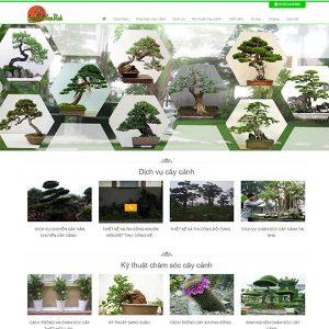 Mẫu Website Buôn Bán Cây Cảnh BONSAI WBT1033