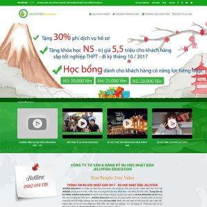 Mẫu Website Du Học Nhật Bản WBT1018