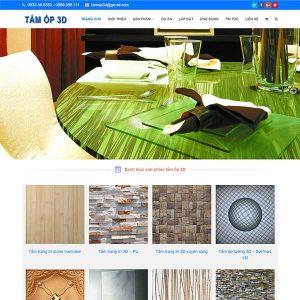 Mẫu Website Tấm ốp Tường 3D WBT1047