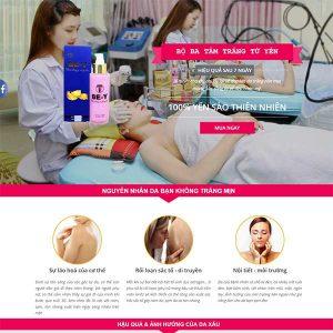 Mẫu Website Tắm Trắng Làm đẹp WBT1019