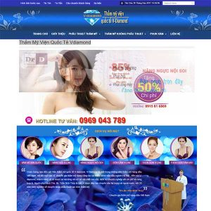 Mẫu Website Thẩm Mỹ Viện Quốc Tế Vdiamond WBT1046