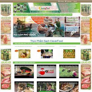 Mẫu Website Thực Phẩm Sạch WBT143