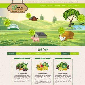 Mẫu Website Thực Phẩm Sạch Kiểu Nông Trang Trại WBT144