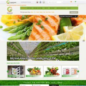 Mẫu Website Thực Phẩm Sạch WBT145
