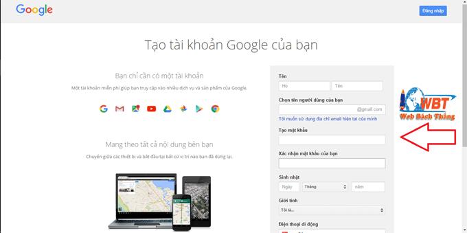cách lập gmail