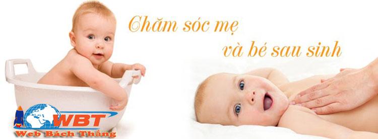 Thiết kế website dịch vụ tắm trẻ sơ sinh