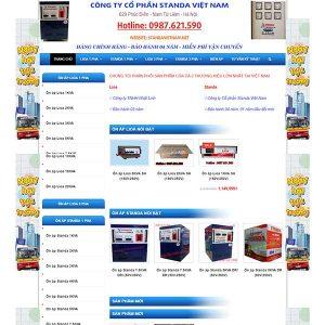Mẫu Website Bán Thiết Bị điện ổn áp LIOA WBT1045