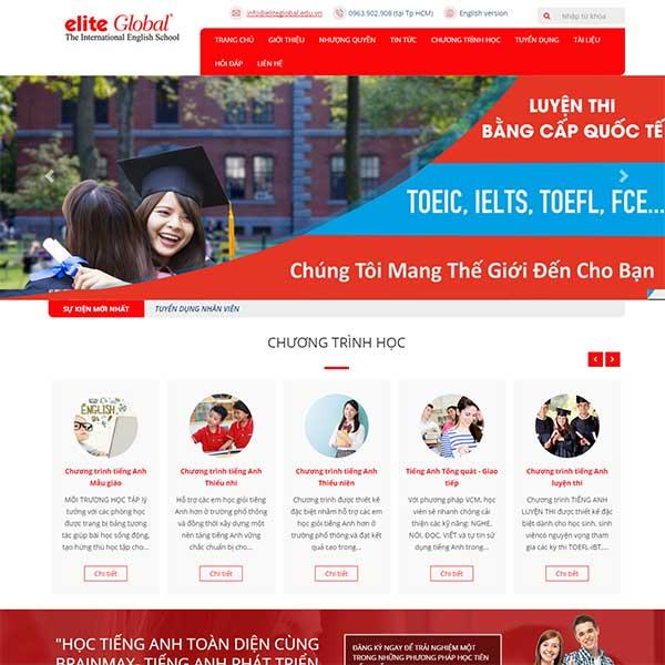 Mẫu Website Dạy Học Tiếng Anh WBT1023
