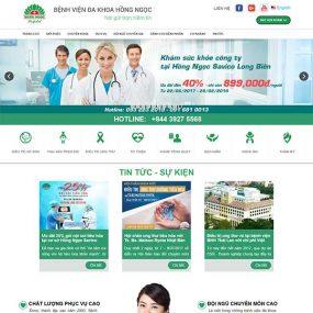 Mẫu Website Bệnh Viện Khách Sạn WBT1024