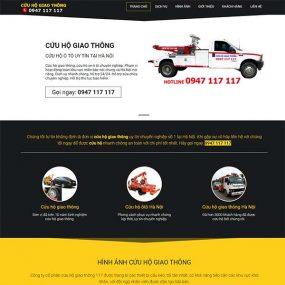 Mẫu Website Dịch Vụ Cứu Hộ ô Tô 24/7 WBT1016