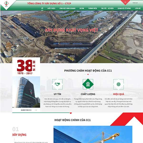 Mẫu Website Công Ty Xây Dựng WBT1021