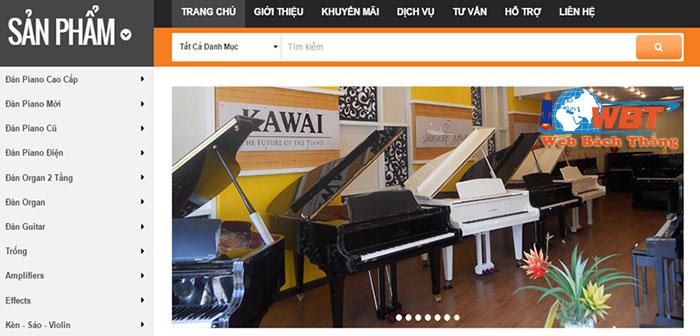 Thiết kế website bán đàn chuyên nghiệp