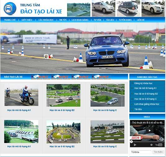 Thiết kế website trung tâm đào tạo lái xe tại hà nội