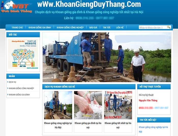 Thiết kế website dịch vụ khoan giếng giá tốt nhất