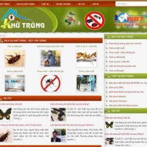 Thiết Kế Website Diệt Mối Muỗi Tận Gốc