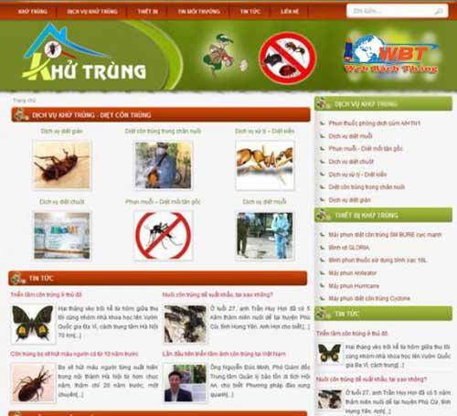 thiết kế website dịch vụ diệt mối muỗi tận gốc
