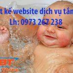 Thiết Kế Website Tắm Bé Chuyên Nghiệp