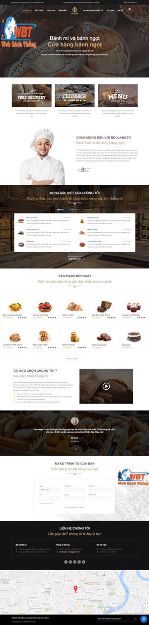 Thiết kế website bán bánh sinh nhật