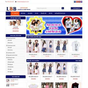 Mẫu Website Bán Hàng Shop Thời Trang WBT1056