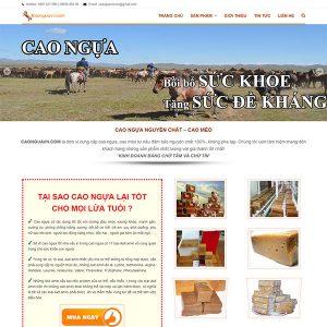 Mẫu Website Cao Ngựa – Cao Mèo Nguyên Chất WBT1072
