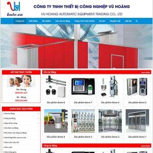 Mẫu Website Công Nghệ Cổng Tự động WBT1057