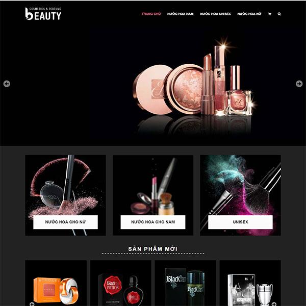Mẫu Website Mỹ Phẩm – Nước Hoa Hàn Quốc WBT1051