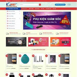 Mẫu Website Siêu Thị Công Nghệ WBT1071