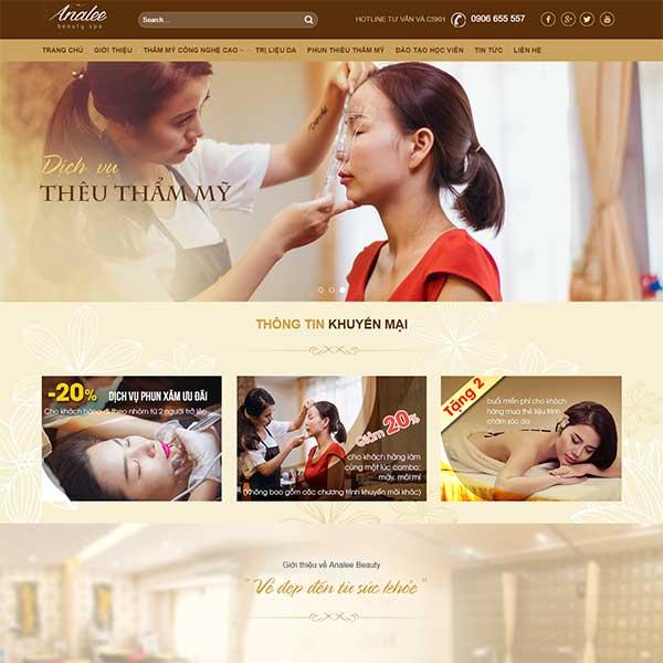 Mẫu Website Thẩm Mỹ Viện Làm đẹp WBT1074
