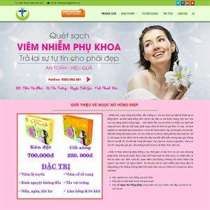Mẫu Website Thuốc Chữa Bệnh Phụ Khoa WBT1073