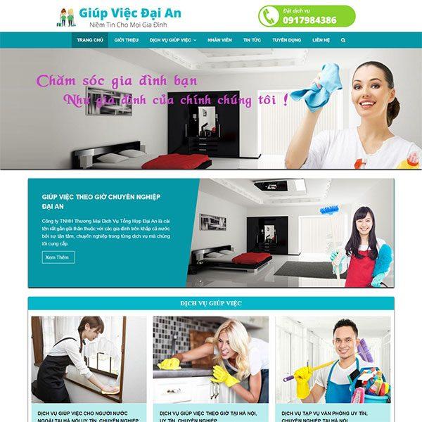 Mẫu Website Dịch Vụ Giúp Việc