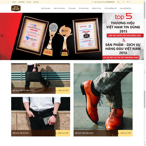 Mẫu Website Bán Phụ Kiện Thời Trang đồ Da WBT157