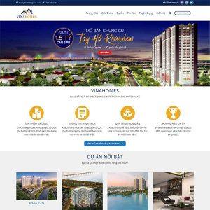 Mẫu Website Bất động Sản VinaHome WBT1063