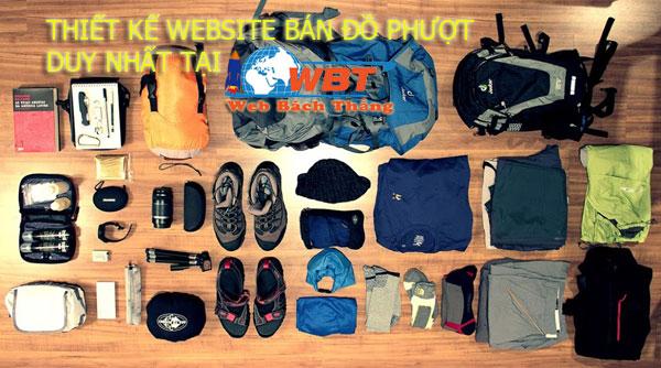 thiết kế website bán đồ phượt tại wbt