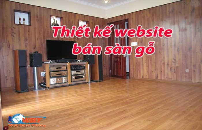 Thiết kế website bán sàn gỗ
