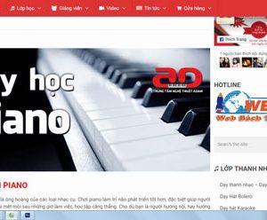 Thiết Kế Website Dạy Học đàn Piano