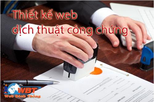 thiết kế website dịch thuật công chứng