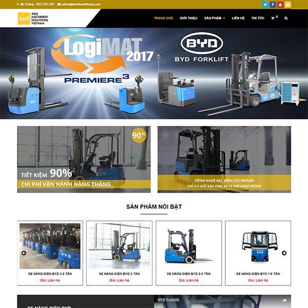 Mẫu Website Xe Nâng điện Chuyên Nghiệp WBT154