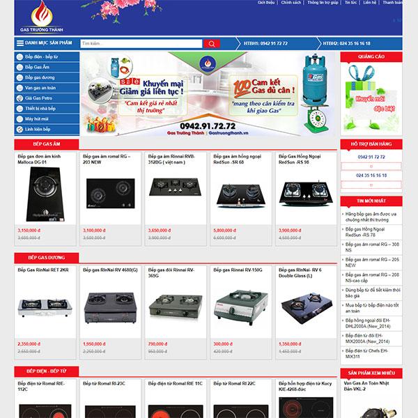 Mẫu Website Bán Bình Gas Bếp Gas Trường Thành